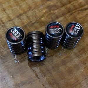 🚘 Audi  logo metal valve cap covers  see photos